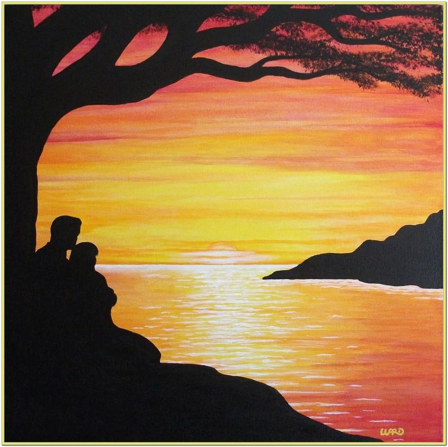 Acrylic Painting Sunset Ideas