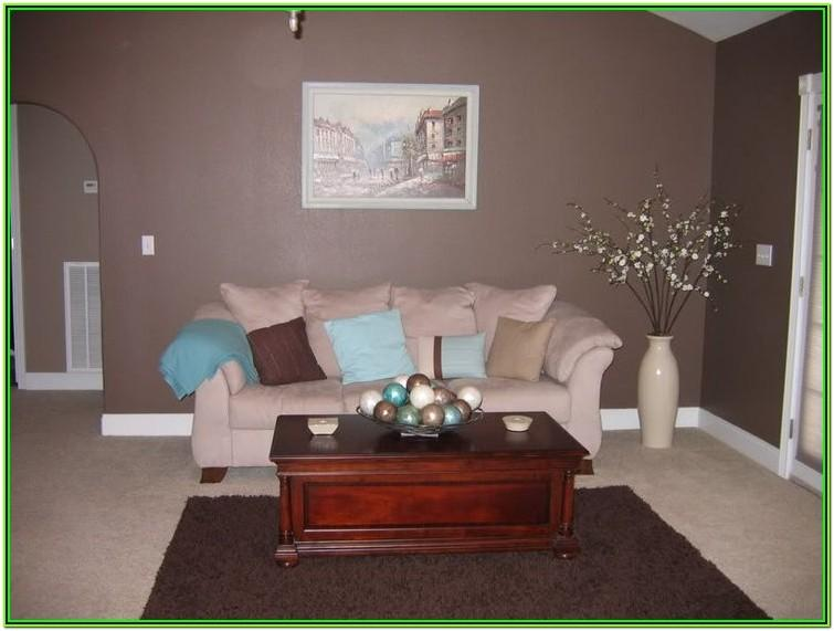 Aqua And Brown Living Room Decor