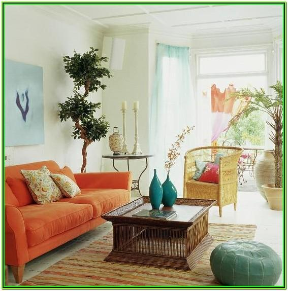 Aqua And Orange Living Room Decor