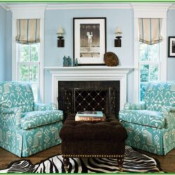 Aqua Blue Living Room Decor
