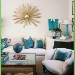 Aqua Living Room Accessories