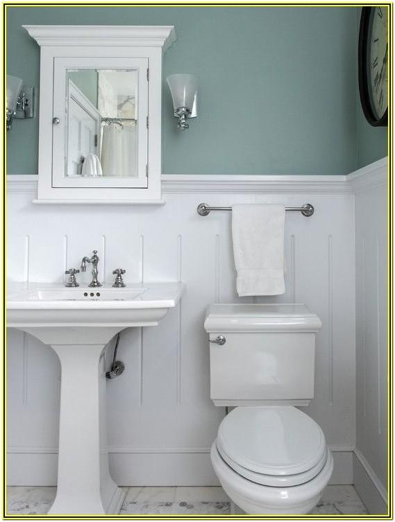 Bathroom Chair Rail Paint Ideas