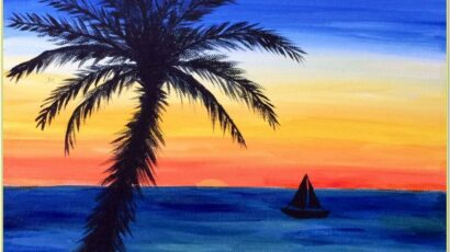 Beach Sunset Painting Ideas