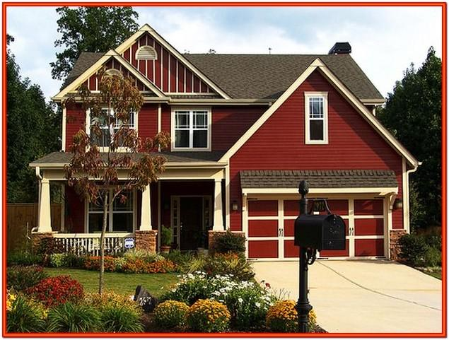 best red exterior house colors