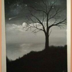 Black And White Acrylic Painting Ideas