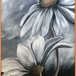 Black And White Canvas Painting Ideas
