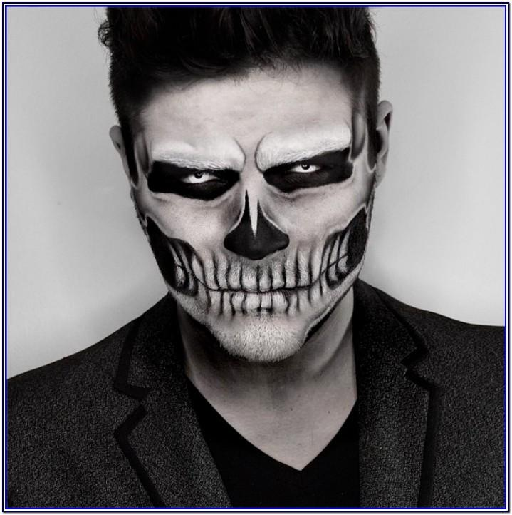 Black And White Face Paint Ideas For Halloween