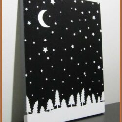 Black And White Painting Ideas For Beginners
