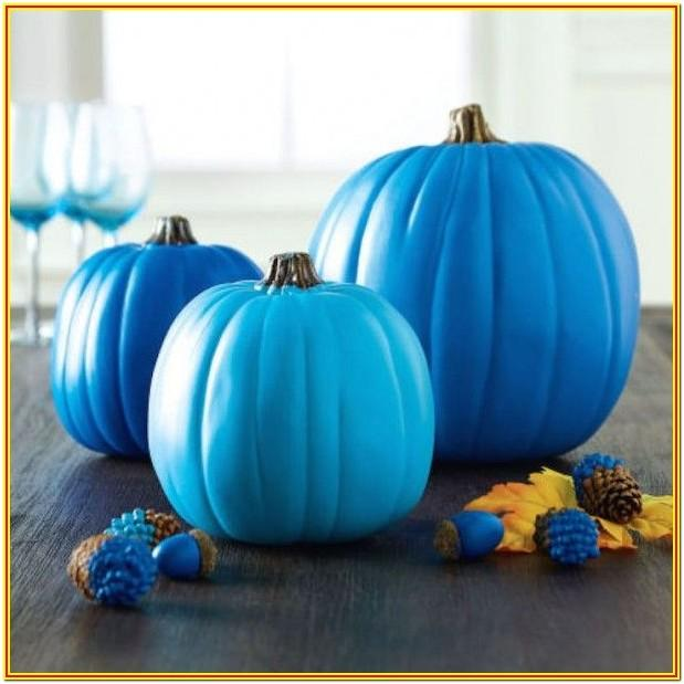 Blue Pumpkin Painting Ideas