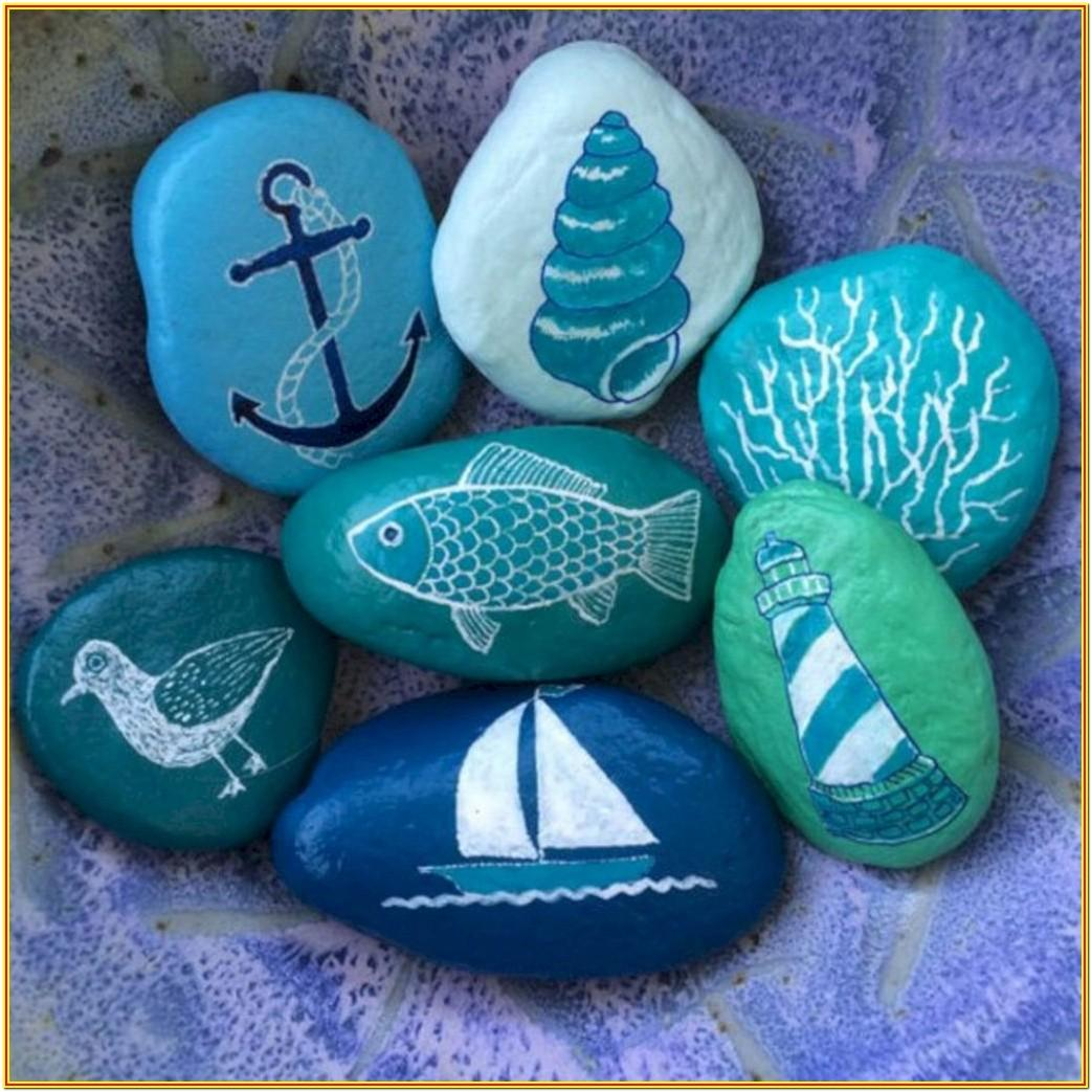 Blue Rock Painting Ideas