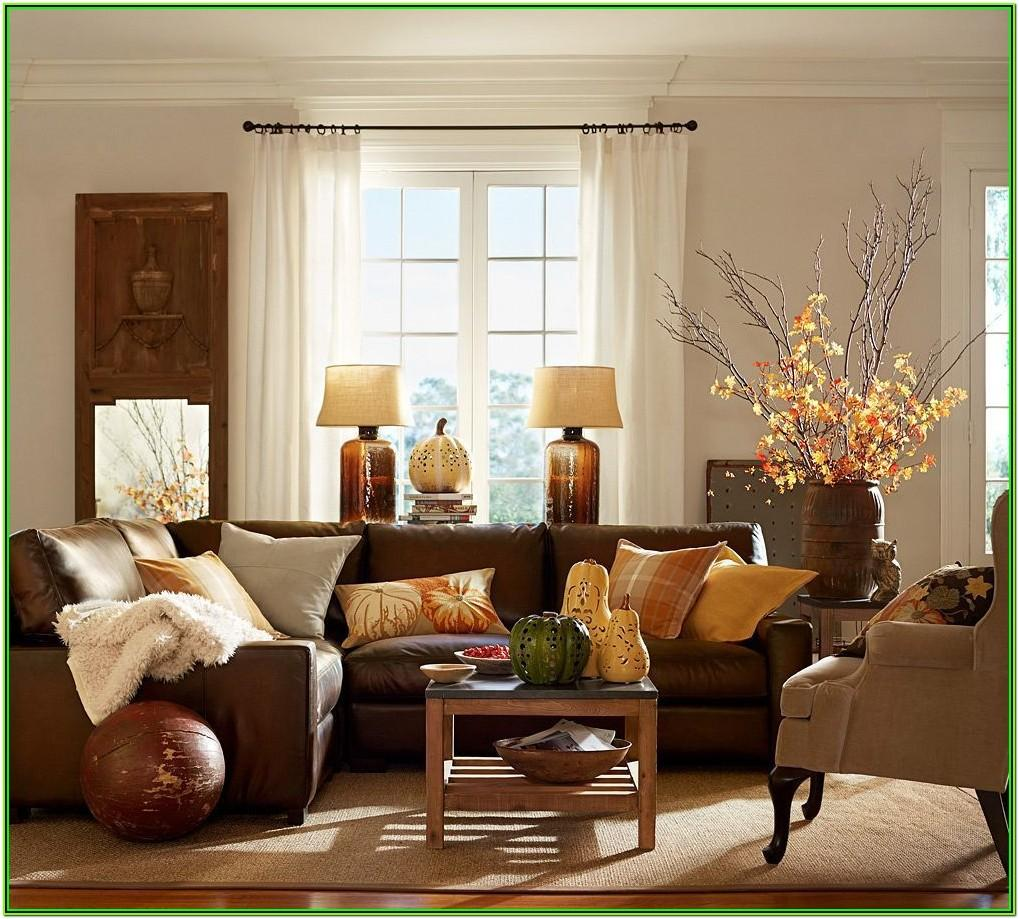 Brown And Burgundy Living Room Decor