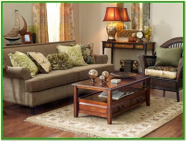 brown living room decoration