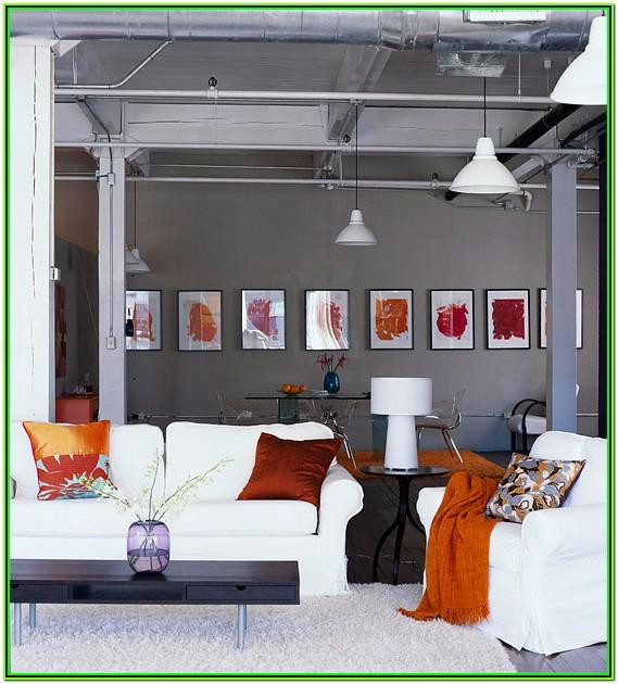 Burnt Orange And Grey Living Room Decor