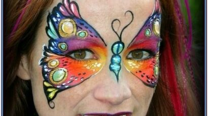 Butterfly Face Painting Images