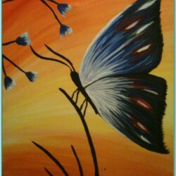 Butterfly Painting Ideas On Canvas