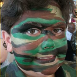 Camouflage Face Paint Ideas