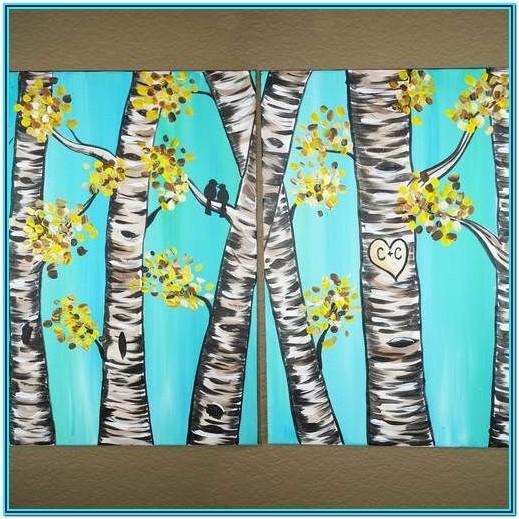 canvas painting date ideas