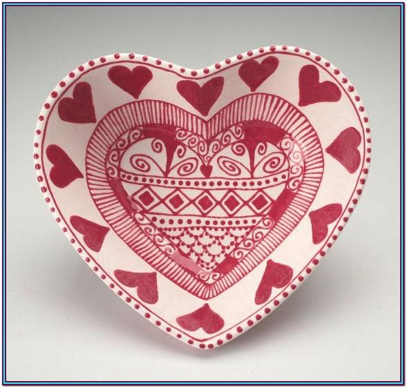 Ceramic Heart Painting Ideas