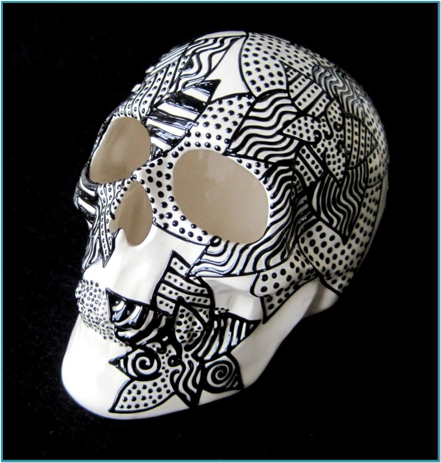 Ceramic Skull Painting Ideas