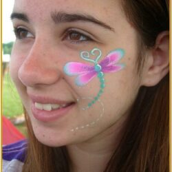 Cheek Art Face Painting Ideas