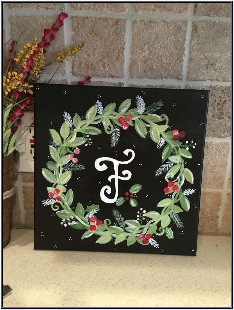 Christmas Acrylic Canvas Painting Ideas
