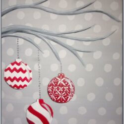 Christmas Canvas Painting Easy