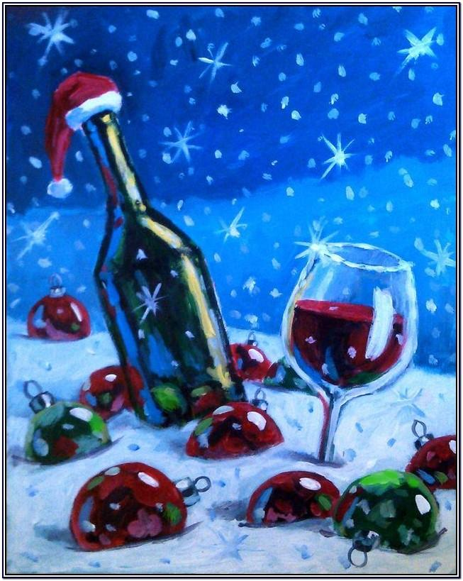 Christmas Canvas Painting Ideas For Beginners