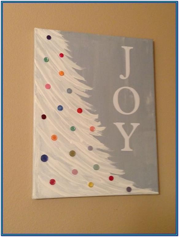Christmas Painting Ideas On Canvas