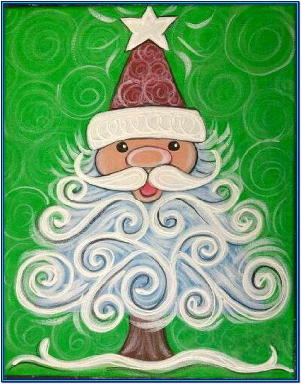 Christmas Painting Ideas Pinterest