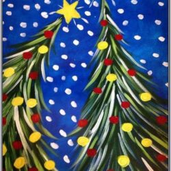 Christmas Theme Painting Ideas