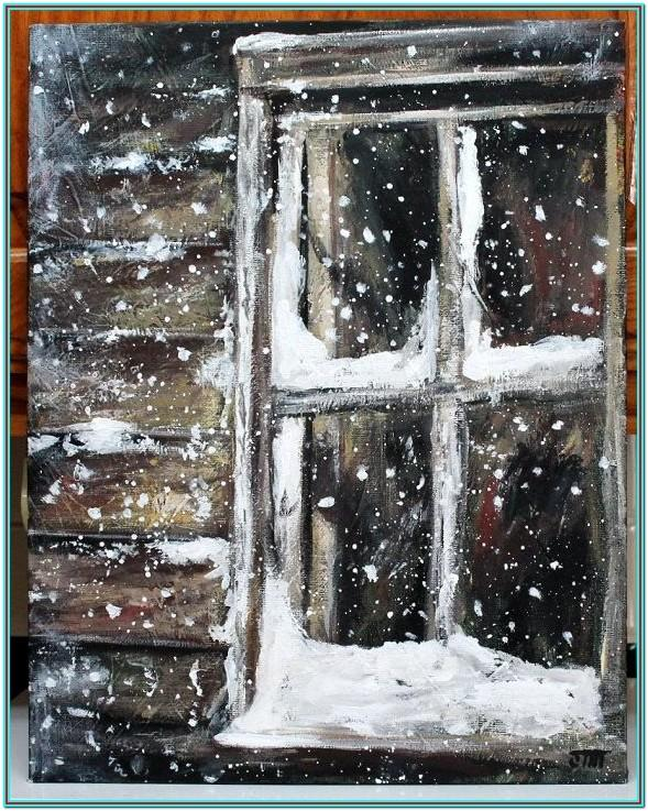 Christmas Window Snow Painting Ideas