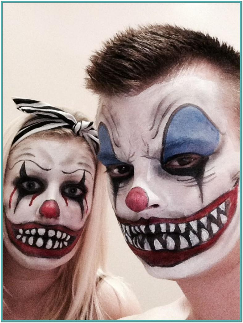 Clown Face Paint Ideas Scary