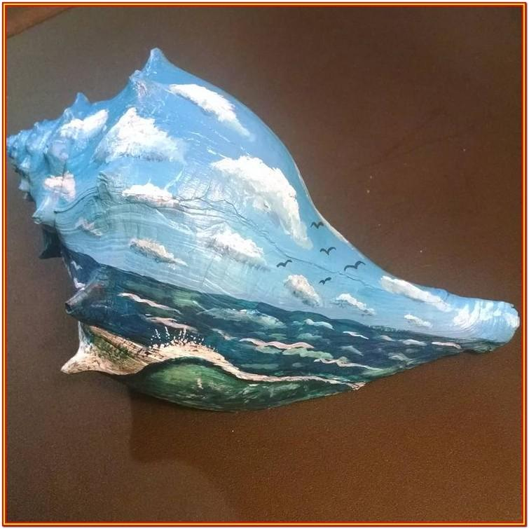 Conch Shell Painting Ideas