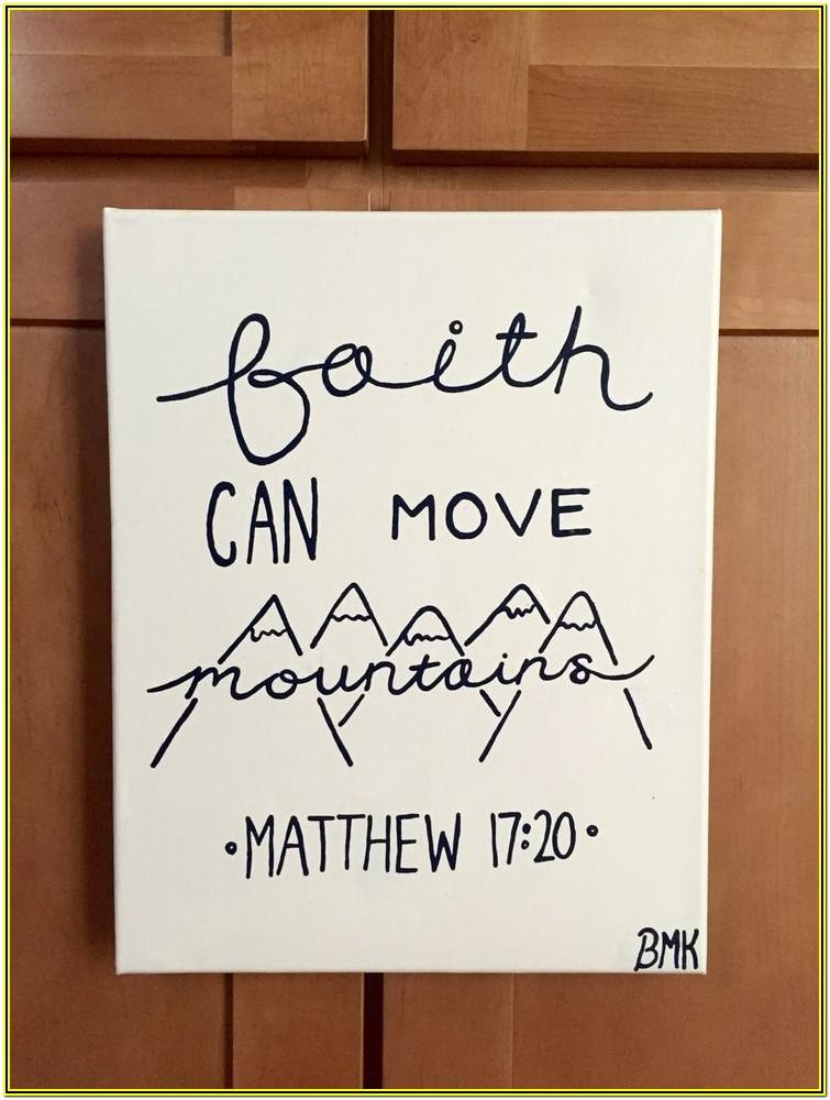 Cool Canvas Painting Ideas With Bible Verses