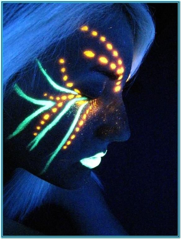 cool neon face paint ideas