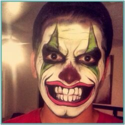 Creepy Clown Face Paint Ideas