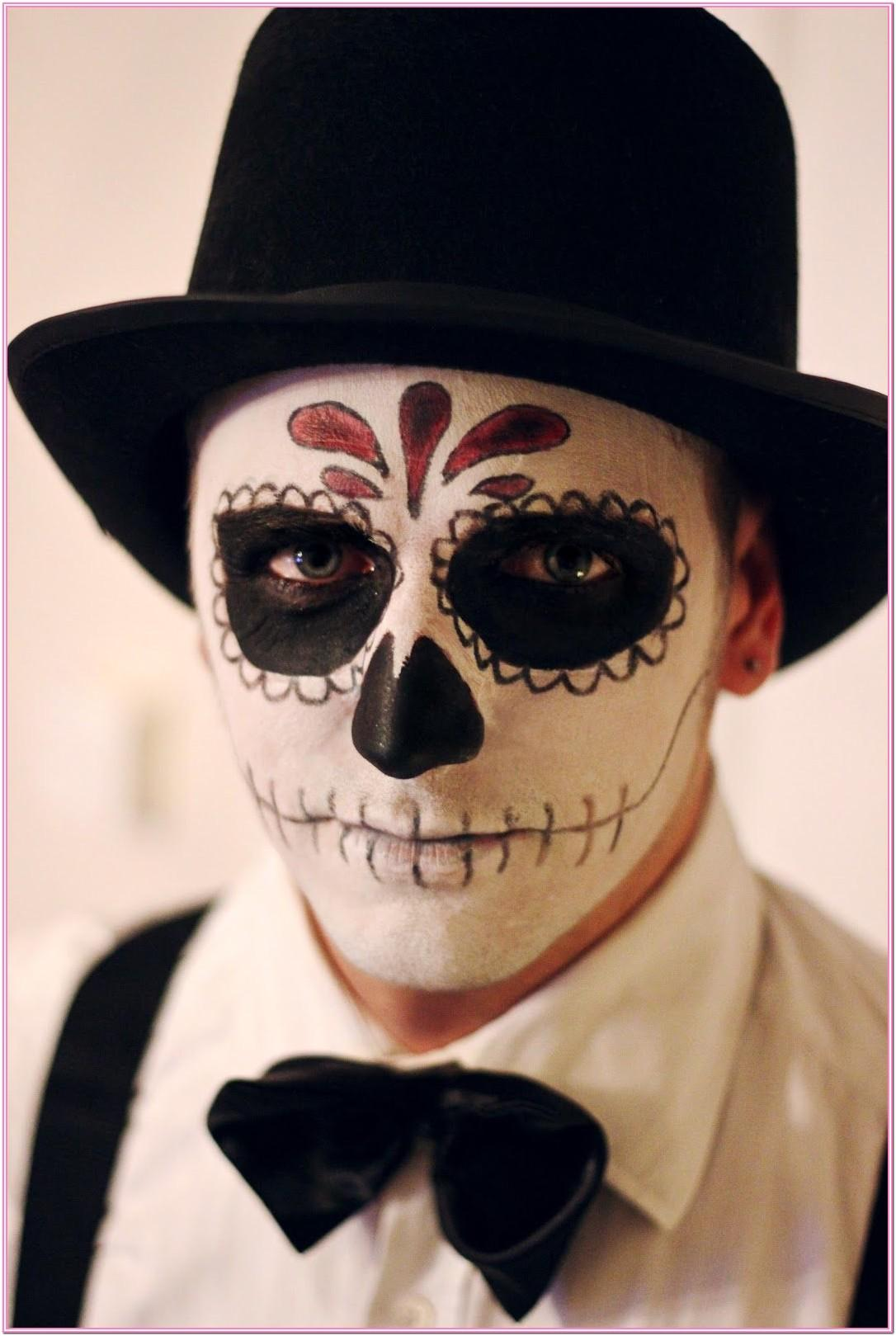 Day Of The Dead Face Paint Ideas Male