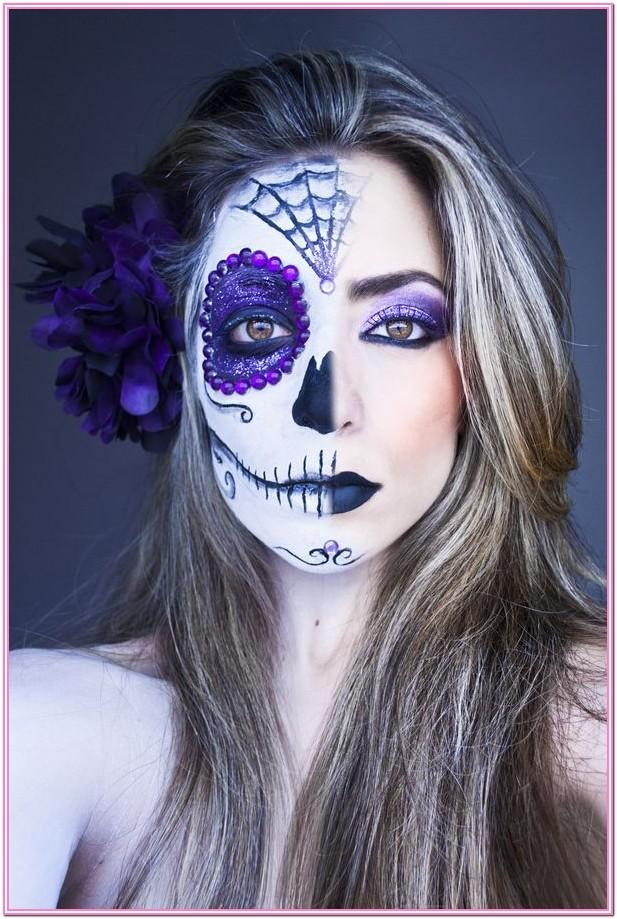 Day Of The Dead Half Face Paint Ideas