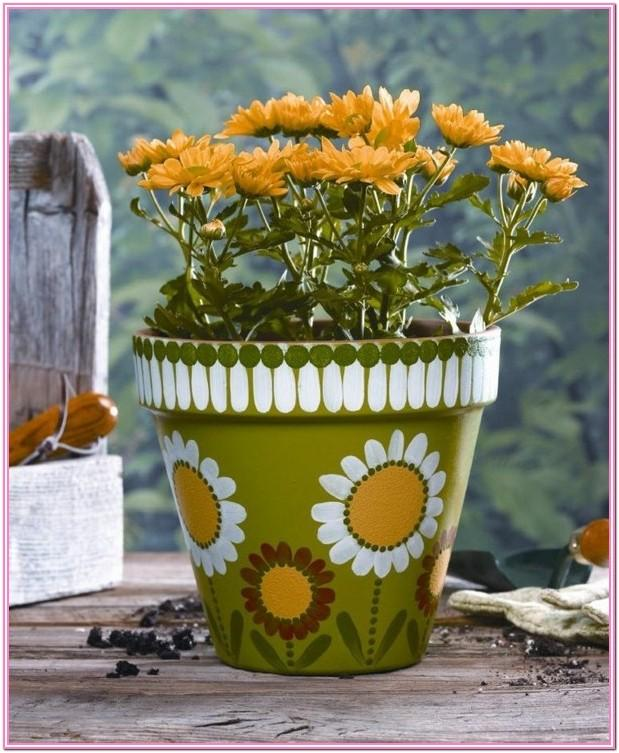Design Ideas For Painting Flower Pots
