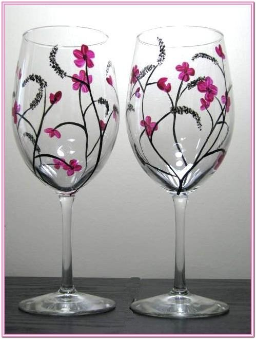 Design Ideas For Painting Wine Glasses