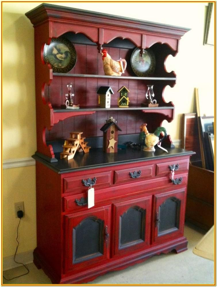 Distressed Painted Hutch Ideas