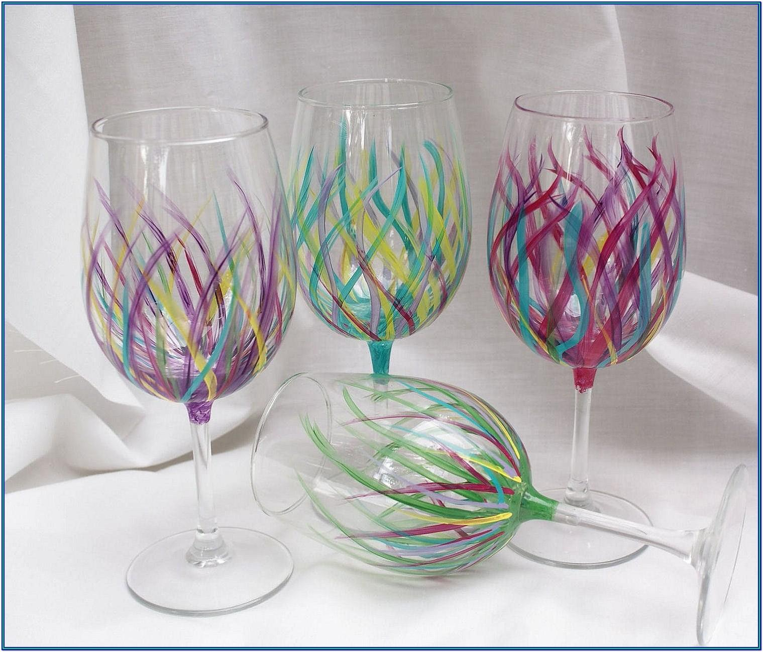 Diy Wine Glass Painting Ideas