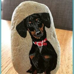 Dog Rock Painting Ideas