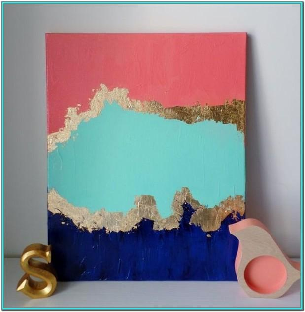 Easy Abstract Acrylic Painting Ideas