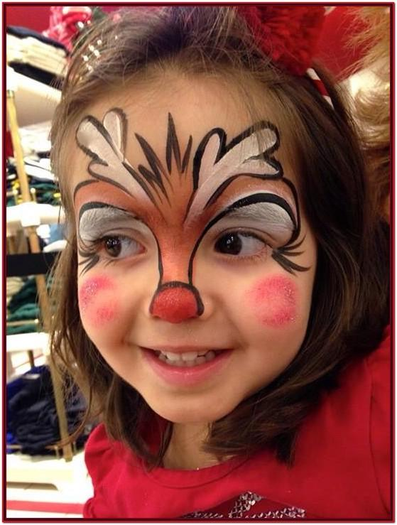 easy christmas face painting ideas