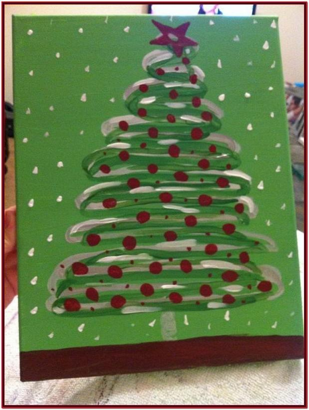Easy Christmas Painting Ideas On Canvas