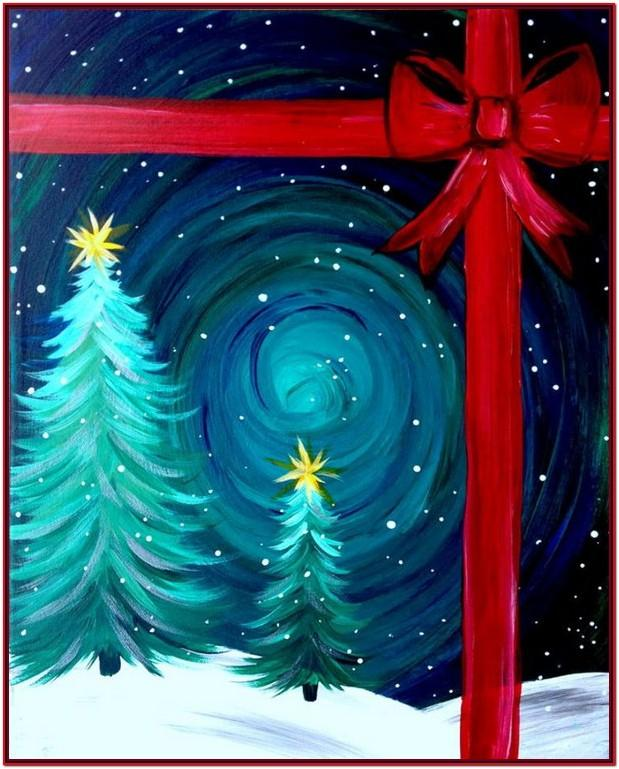 Easy Christmas Tree Painting Ideas