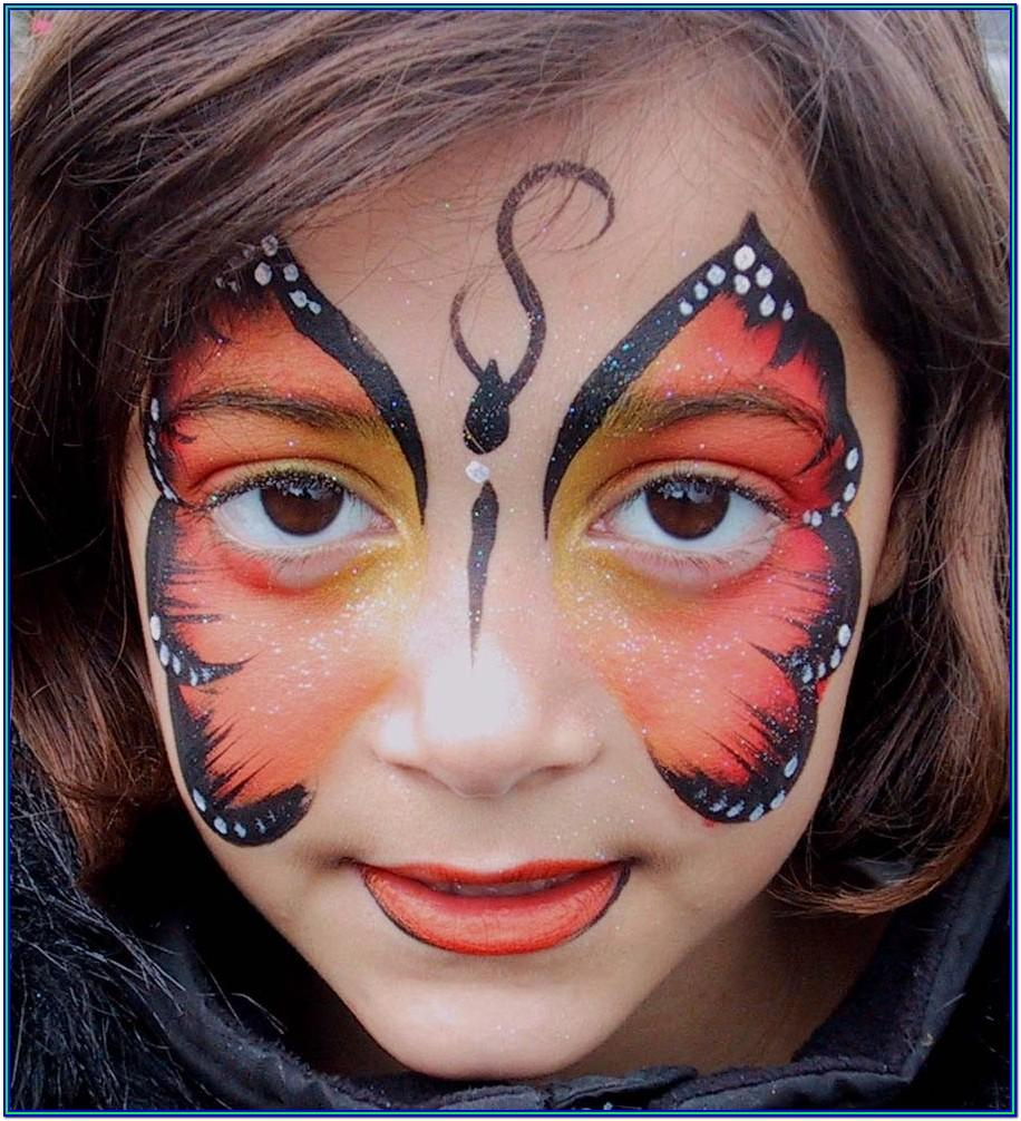 Easy Face Paint Ideas Butterfly