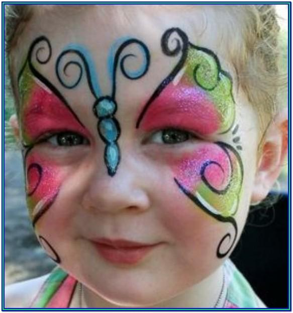 easy face painting ideas butterfly