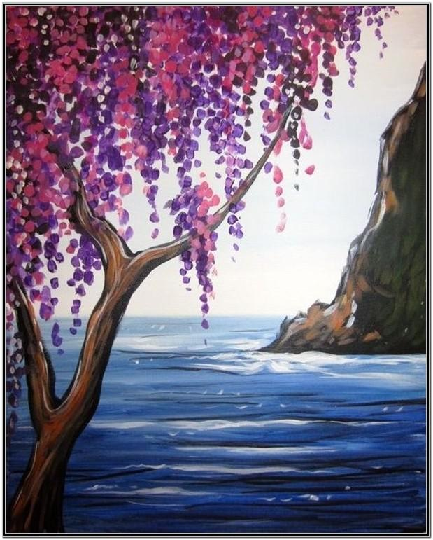 Easy Painting Ideas For Beginners Flowers